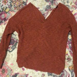 Orange Knot Sweater